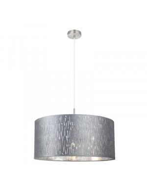 Globo, Tarok, Függesztett lámpa 15265H1 bársony, ezüst metál