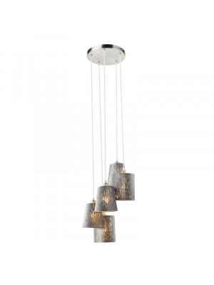 Globo, Tarok, Függesztett lámpa 15265-5H1, nikkel matt, bársony ezüst metál