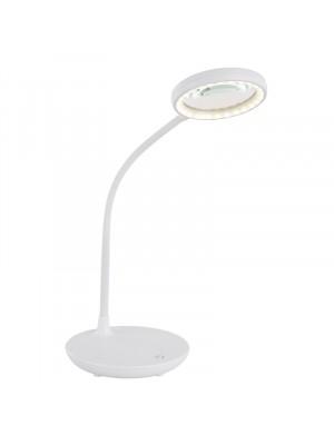 Globo, Loupe, Asztali lámpa, műanyag, fehér, nagyítóval szerelve 58408