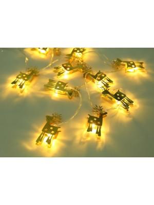Globo, Led fényfüzér, műanyag, Rénszarvasok, 29909-10