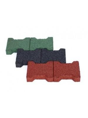 C.S.O., Dupla-T gumitégla D zöld 40 mm, 200*160 mm