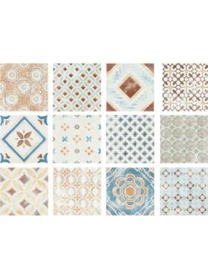 Csempe, Del Conca, Amarcord Gradisca patchwork hatású 20*20 cm I.o. OOPR