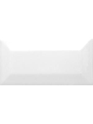 Csempe, Cerámica Álbaro Metro csempe Blanco Biselado Brillo 10*20 cm I.o.