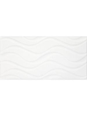 Csempe, Khan Izola Waves White 25*50 cm 5894 I.o.