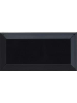 Csempe, GT Metro csempe fényes fekete 10*20 cm 46C061 I.o.