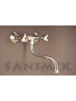 Sanimix, Hagyományos mosogató cst. fali, króm