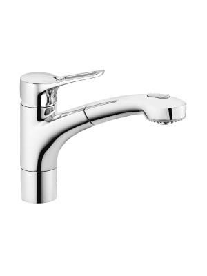 Kludi, MX, mosogatócsaptelep 399410562, kihúzható zuhanyfejjel