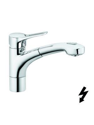Kludi, MX, mosogatócsaptelep 399420562, kihúzható zuhanyfejjel