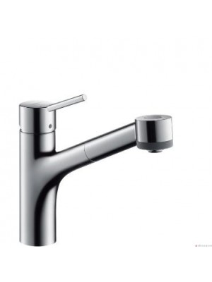 Hansgrohe, Talis S, egykaros konyhai csaptelep, DN15 32841000, kihúzható zuhanyfejjel