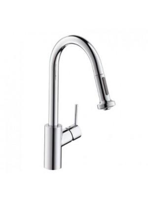 Hansgrohe, Talis S2, Variarc egykaros kihúzható zuhanyfejes konyhai csaptelep, DN15 14877000