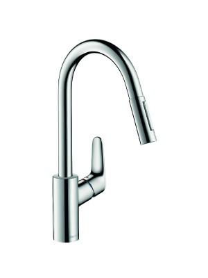 Hansgrohe, Focus, kihúzható zuhanyfejes konyhai csaptelep, 31815000
