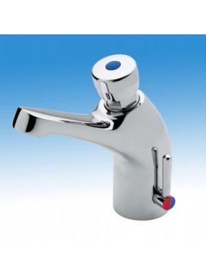 B&K, Időzített, nyomógombos keverőkaros mosdócsaptelep H-M vízre (15+-3mp), QK230K