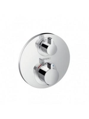 Hansgrohe, Ecostat S, falsík alatti termosztátos csaptelep, 2 fogyasztóhoz, 15758000