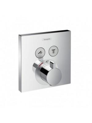 Hansgrohe, ShowerSelect termosztátos csaptelep, 2 fogyasztóhoz, falsík alatti szereléshez, 15763000