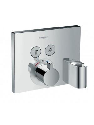 Hansgrohe, ShowerSelect termosztátos csaptelep, falsík alatti szereléshez, beépített Fixfittel+Porter szettel, 15765000