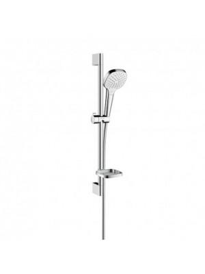 Hansgrohe, Croma Select E, Vario zuhanyszett, 0,65m, szappantartóval, króm-fehér, 26586400