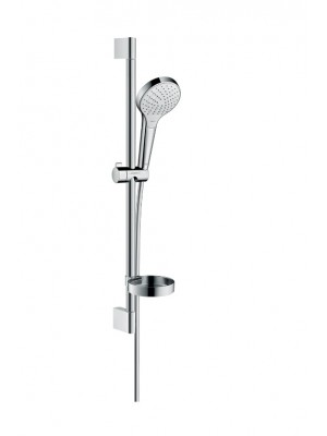 Hansgrohe, Croma Select S, Vario zuhanyszett, 0,65m, szappantartóval, króm-fehér, 26566400