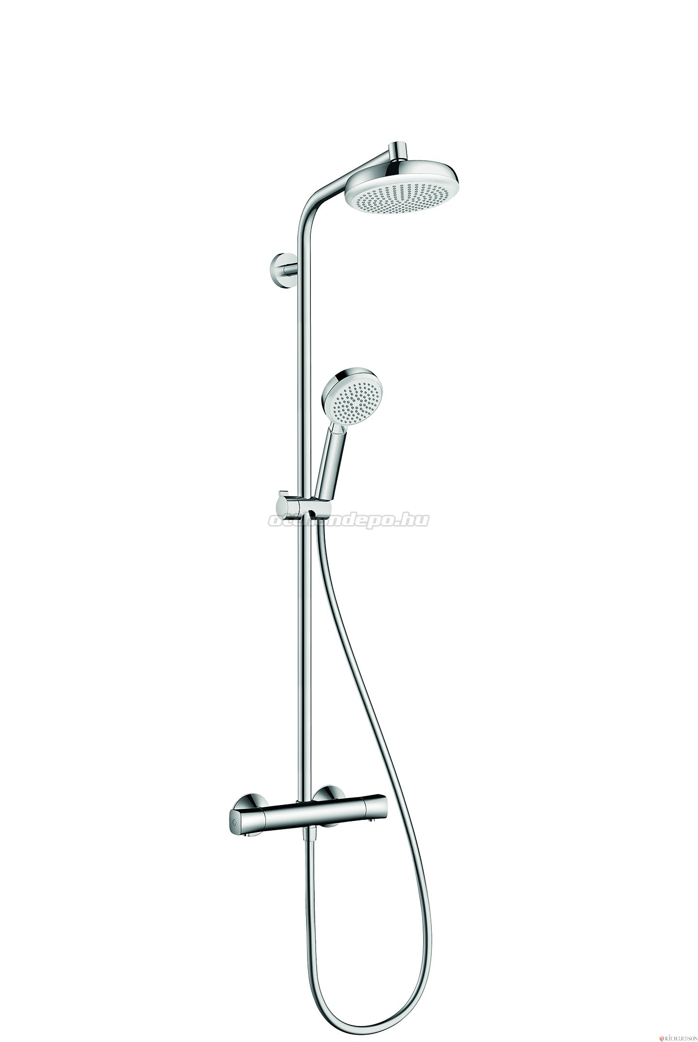 hansgrohe croma 160 1jet showerpipe 27264400 otthon. Black Bedroom Furniture Sets. Home Design Ideas
