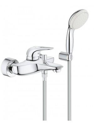 Grohe, Eurostyle egykaros kádcsaptelep fali zuhanyszettel, 3359230A