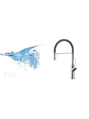 Wellis, Fizz mosogató csaptelep, króm / fekete, ACS0216