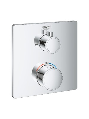 Grohe, Grohtherm, termosztátos kádtöltő csaptelep, 2 kimenethez, 24080000