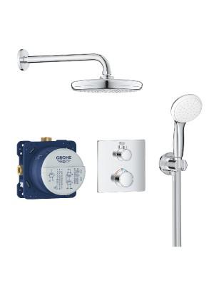 Grohe, Grohtherm, termosztátos zuhanyrendszer Tempesta 210 fejzuhannyal, 34729000