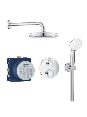 Grohe, Grohtherm, termosztátos zuhanyrendszer Tempesta 210 fejzuhannyal, 34727000