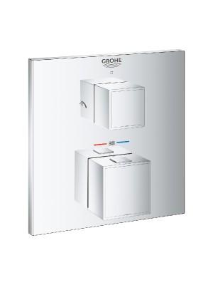 Grohe, Grohtherm Cube termosztátos kád keverő 2 kimenethez, 24155000