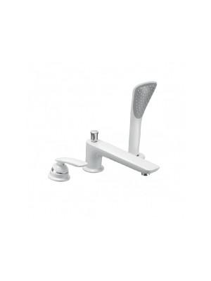Kludi, Balance, kádtöltő- és zuhanycsaptelep, fehér / króm 524479175