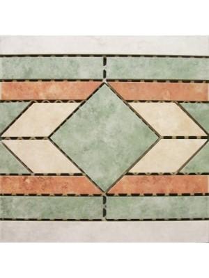 Padlódekor, Zalakerámia, RFD 310, 30*30 cm, egyeneselem I.o