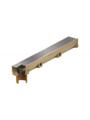 ACO, Self Euroline 38701, polimerbeton folyóka test, horg acél rács, csőcsonkkal 1 m