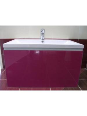 Fürdőszobabútor, tBoss Lisa 80 fuschia üvegfrontos alsó+tál (kapcsolódó termék: FBU0337)