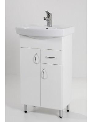 HB Fürdőszobabútor, Standard 50F mosdós fürdőszoba szekrény, 50 cm