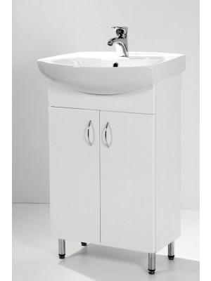 HB Fürdőszobabútor, Standard 55 mosdós fürdőszoba szekrény, 55 cm