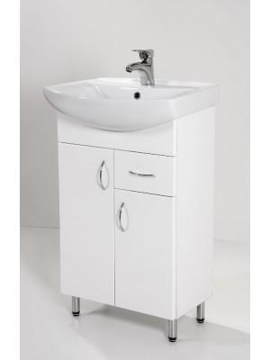 HB Fürdőszobabútor, Standard 55F mosdós fürdőszoba szekrény, 55 cm