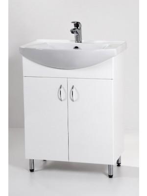 HB Fürdőszobabútor, Standard 65 mosdós fürdőszoba szekrény, 65 cm