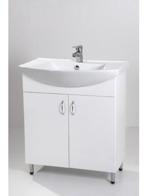 HB Fürdőszobabútor, Standard 75 mosdós fürdőszoba szekrény, 75 cm