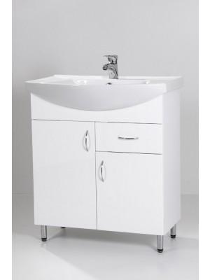 HB Fürdőszobabútor, Standard 75F mosdós fürdőszoba szekrény, 75 cm