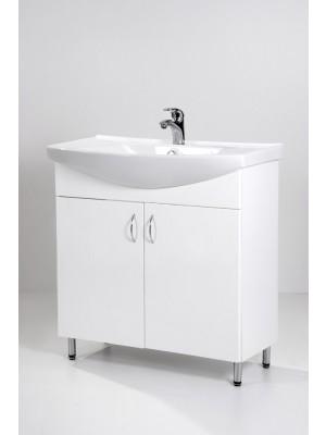 HB Fürdőszobabútor, Standard 85 mosdós fürdőszoba szekrény, 85 cm