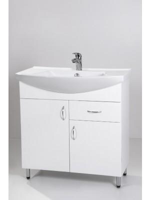 HB Fürdőszobabútor, Standard 85F mosdós fürdőszoba szekrény, 85 cm