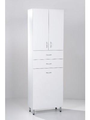 HB Fürdőszobabútor, Standard 60SZF szennyestartós álló szekrény, 60 cm