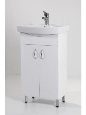 HB Fürdőszobabútor, Light 50 mosdós fürdőszoba szekrény, 50 cm