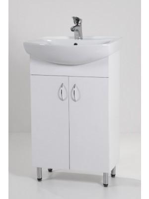 HB Fürdőszobabútor, Light 55 mosdós fürdőszoba szekrény, 55 cm