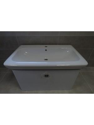 Bemutató termék, tBoss Life 80 1F alsó bútor+mosdótál fehér szín  I.o.