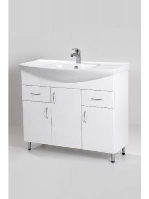 HB Fürdőszobabútor, Standard 100 mosdós fürdőszoba szekrény, 100 cm