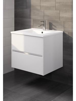 Riho, Porto kerámia mosdó + fehér alsószekrény 60 cm