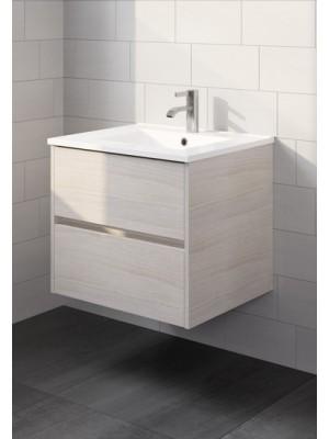 Riho, Porto kerámia mosdó + szürke tölgy alsószekrény 60 cm