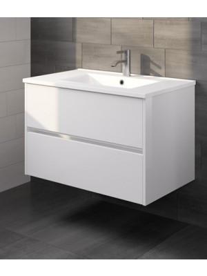 Riho, Porto kerámia mosdó + fehér alsószekrény 80 cm