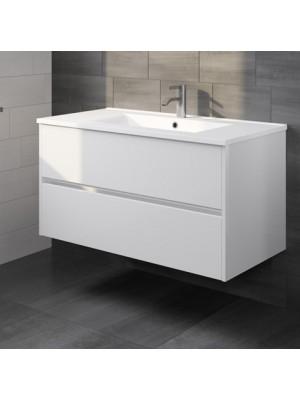 Riho, Porto kerámia mosdó + fehér alsószekrény 100 cm