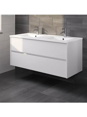 Riho, Porto kerámia mosdó + fehér alsószekrény 120 cm